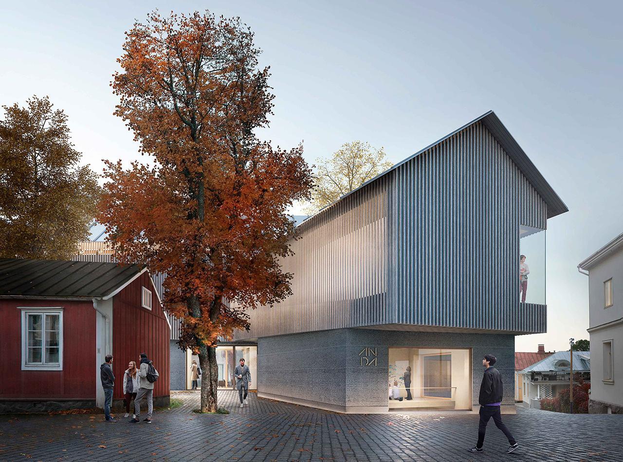 Taidemuseo puusta, kivesta ja savesta